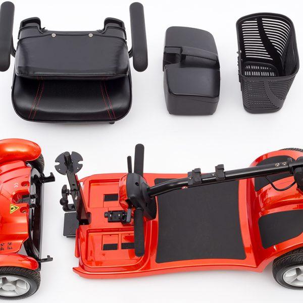Elektromobil Kymco Fünen Orange zerlegt