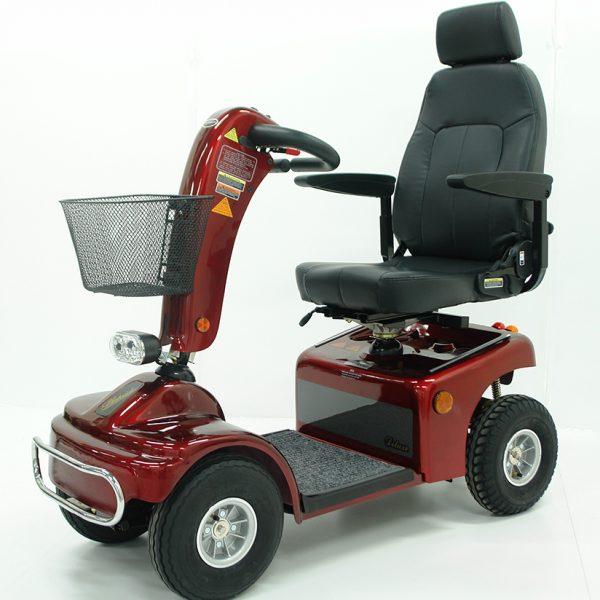 Elektromobil Shoprider Borkum TE 889 NRS rot, Seitenansicht