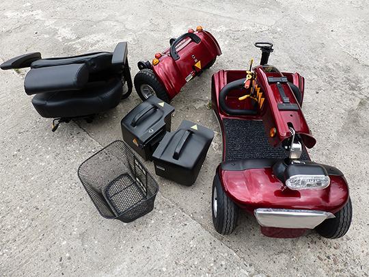 Elektromobil Shoprider Helgoland GK 10, komplett zerlegt 3